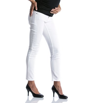 White Maternity Slim-Leg Jeans