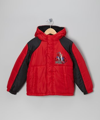 Red & Black Spider-Man Jacket - Boys