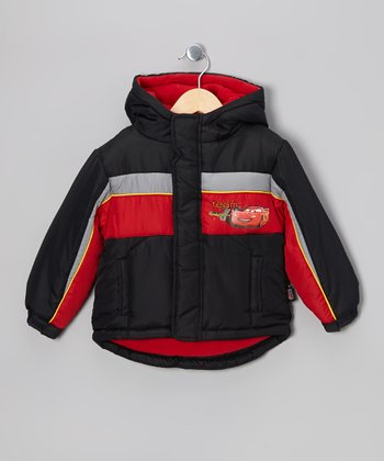 Black & Red Cars Jacket - Boys