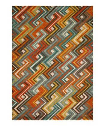 Sunset Intersecting Zigzag Rug