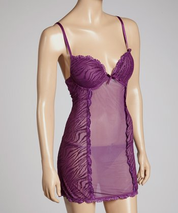 Magic Purple Babydoll & Thong - Women