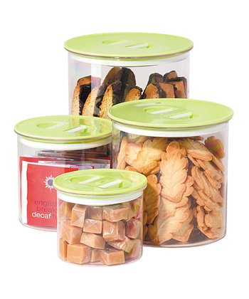 Green Stack 'n' Store Four-Piece Canister Set
