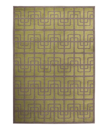 Dark Lime Cross Tile Servaline Rug