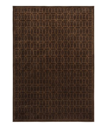 Brown Geometric Servaline Rug