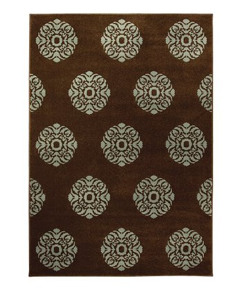 Brown Elegant Medallion Servaline Rug