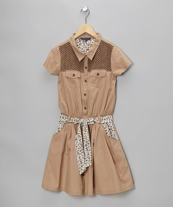 Brown Agusta Shirt Dress - Toddler & Girls