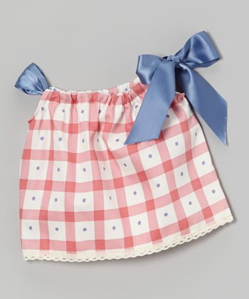 Mauve Plaid Doll Dress