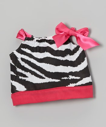 Pink Zebra Doll Dress