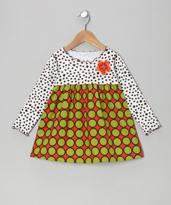 Green Circle Lettuce Swing Top - Toddler & Girls