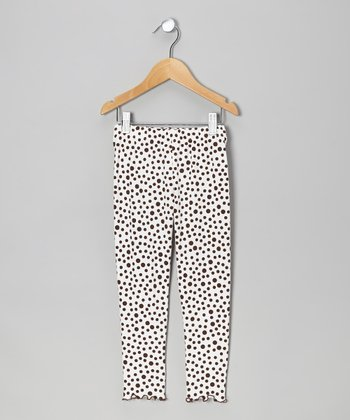 Brown Dot Leggings - Toddler & Girls