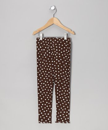 Chocolate Dot Leggings - Toddler & Girls