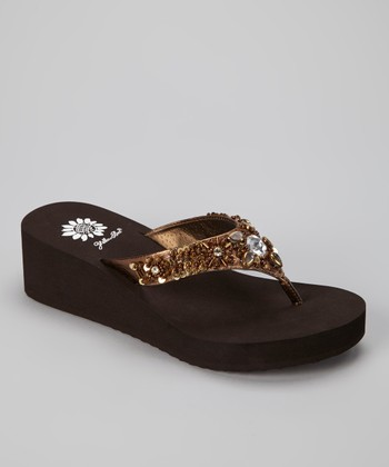 Bronze Aideen Wedge Sandal