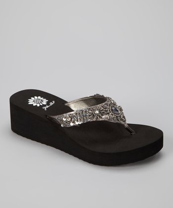 Pewter Aideen Wedge Sandal - Women