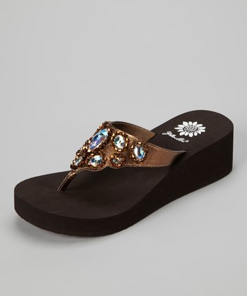 Bronze Amabel Wedge Sandal