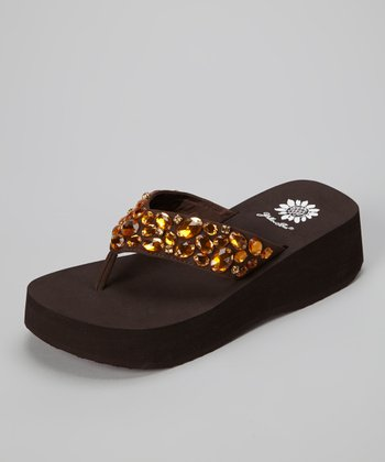 Brown Bogota Wedge Sandal
