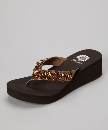 Bronze Cordelia Wedge Sandal