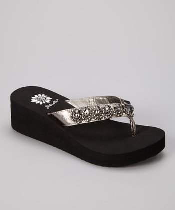 Pewter Cordelia Wedge Sandal