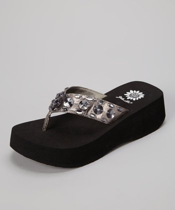 Pewter Marketa Wedge Sandal