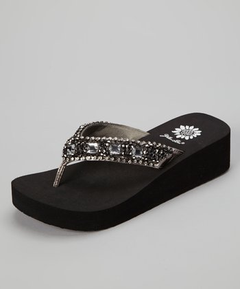 Pewter Messina Wedge Sandal