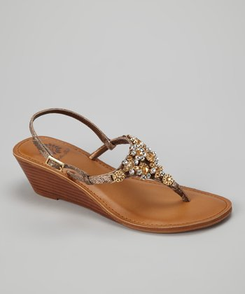 Bronze Primrose Wedge Sandal
