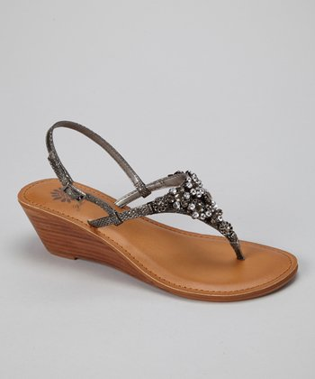 Pewter Primrose Wedge Sandal