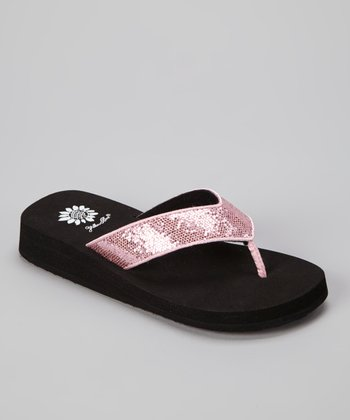 Pink Rainbow Sandal - Girls