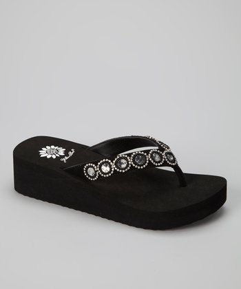 Black Spaniel Sandal - Women