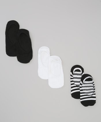 Black Stripe Socklets Set
