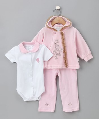 Rumble Tumble Pink Flower Pants Set - Infant