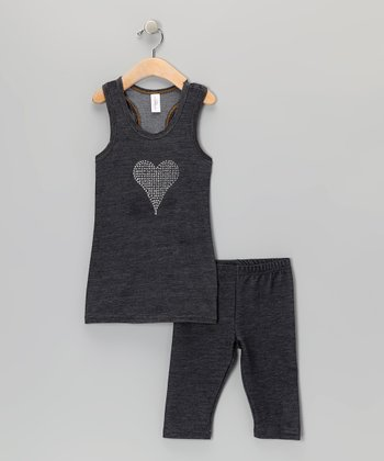 Blue Heart Tunic & Jeggings - Toddler & Girls