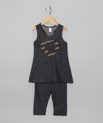 Blue Denim Tunic & Capri Pants - Toddler & Girls