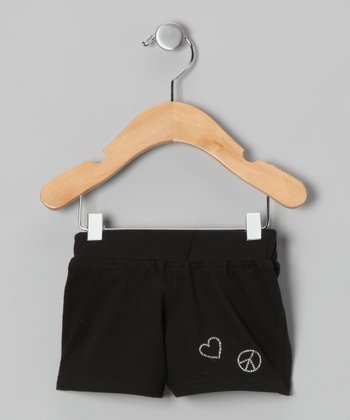 Black Heart Shorts - Infant