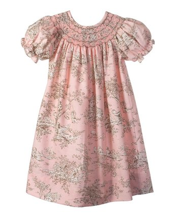 Candyland - Light Pink Toile Bishop Dress 6