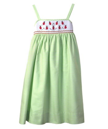Lime Ladybug Sundress - Toddler & Girls