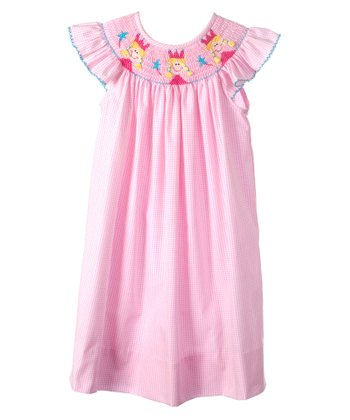Pink Princess Angel-Sleeve Bishop Dress - Infant, Toddler & Girls