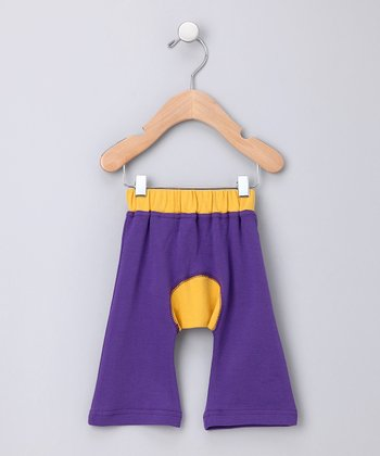 Purple Ha-Ha Smile Organic Pants