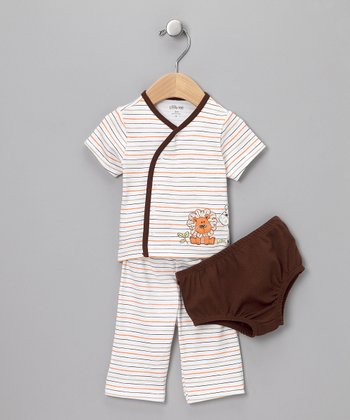 Brown Safari Three-Piece Set