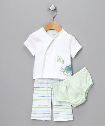Green Turtle Three-Piece Set