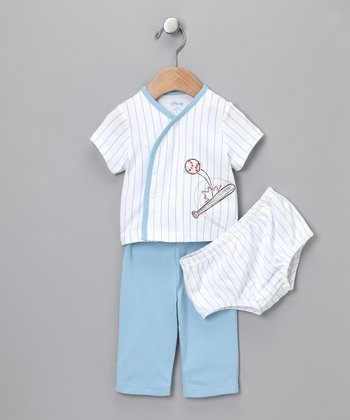 Blue Baseball Three-Piece Set