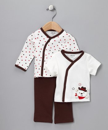 Brown Cowboy Three-Piece Set