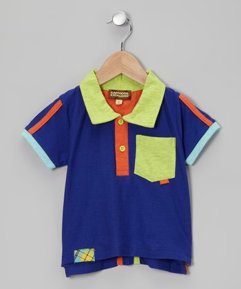 Royal Stripe Pocket Polo - Infant, Toddler & Boys