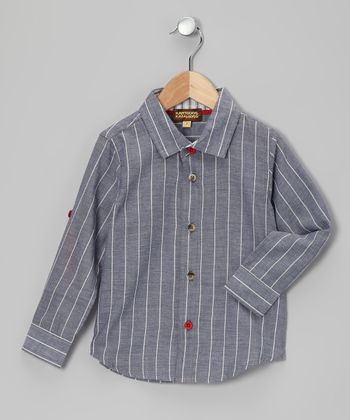 Paris Gray Pinstripe Button-Up - Infant, Toddler & Boys