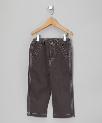 Granite Gray Twill Pants - Toddler & Boys