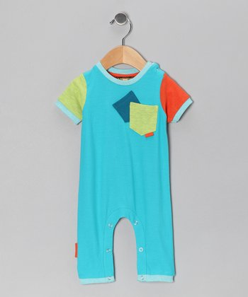 Dark Aqua Pocket Playsuit - Infant
