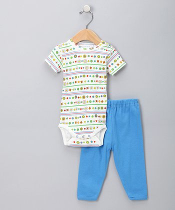 Under The Nile Brilliant Blue Bodysuit & Pants - Infant