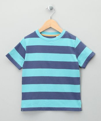 Blue Stripe Organic Tee - Toddler & Kids