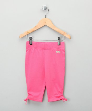 Bright Pink Bow Organic Shorts - Toddler & Girls