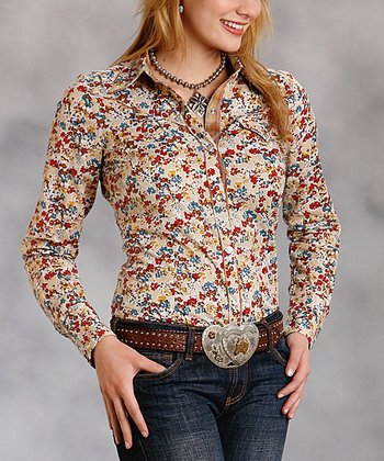 Yellow Floral Button-Up - Women & Plus