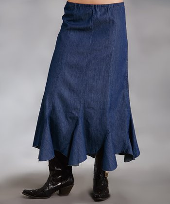 Blue Handkerchief Skirt - Women & Plus