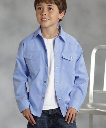 Chambray Blue Button-Up - Boys